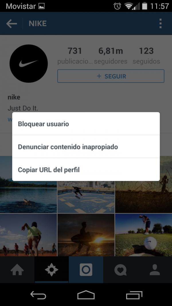 Auf Instagram Blockiert