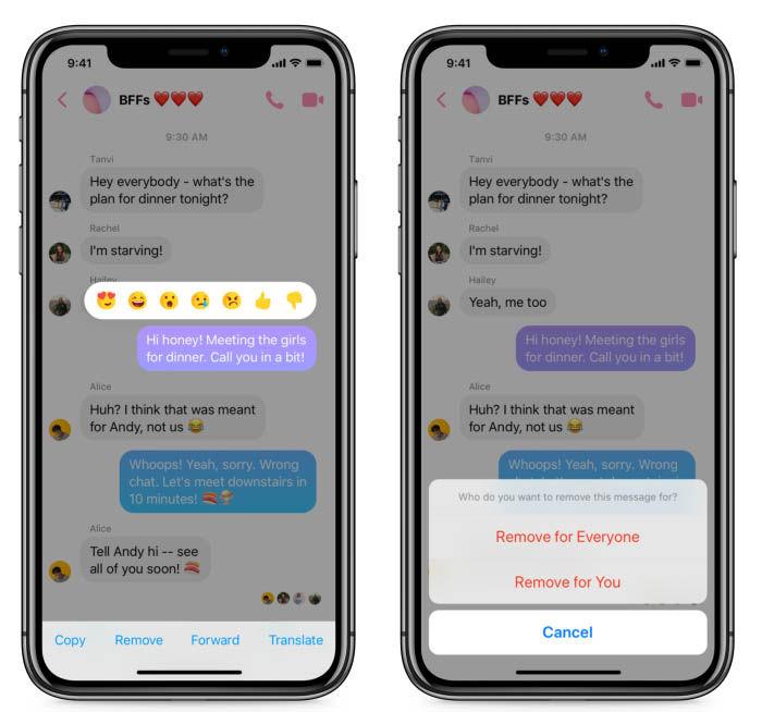 Messenger Nachrichten Löschen