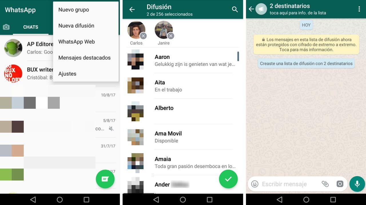 So Senden Sie Eine Nachricht An Mehrere Kontakte Auf Whatsapp