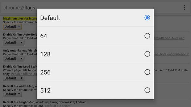 Geschwindigkeit erhöhen Chrom Android3