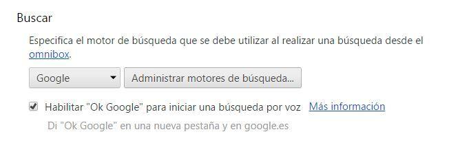 OK Google in Chrome