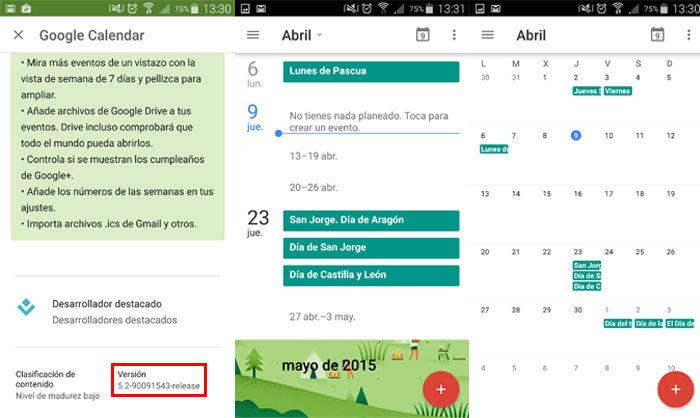 Google Kalender Monatsansicht