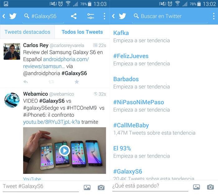Geben Sie Twitter-Trends von Android ein