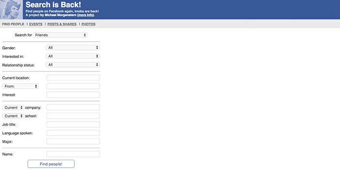 Erweiterte Suche Facebook
