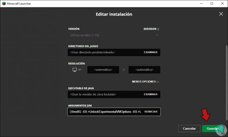 18-RAM-Speicher zuweisen-mit-Minecraft-Launcher-unter-Windows-10.png