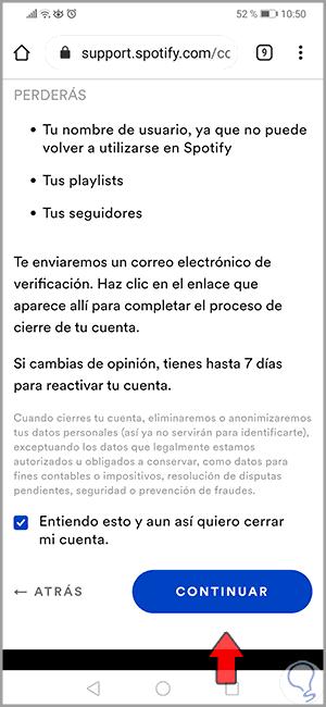 15 - So löschen Sie das Spotify-Konto auf Android-Handys