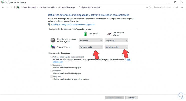 4 - Schließen Sie die Abdeckung des Laptops, ohne Windows 10.png auszuschalten