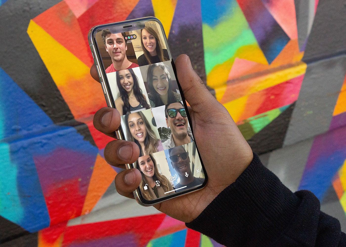 Videoanrufe gruppieren