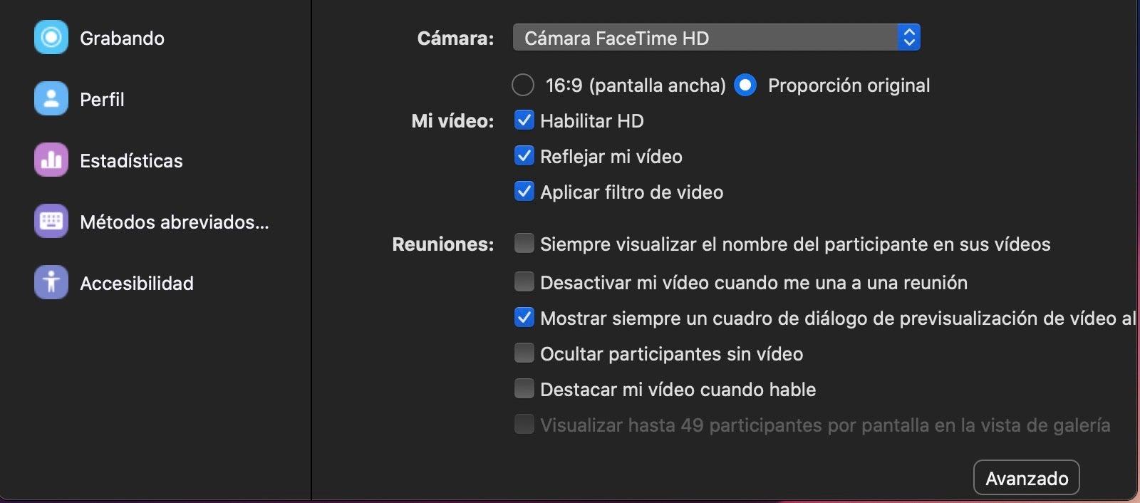 Aktivieren Sie den Videofilter im Zoom