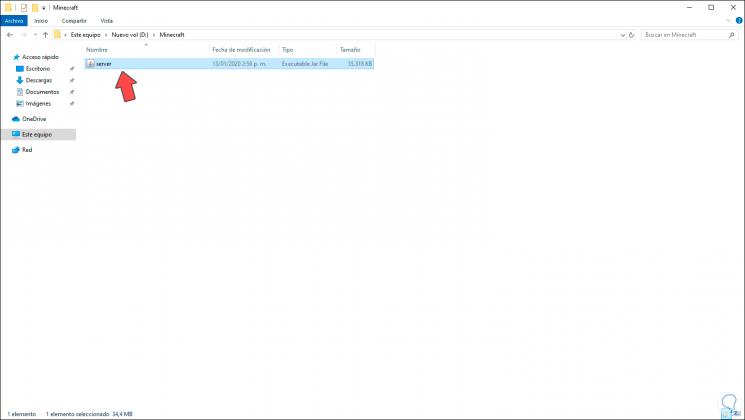 3-Laden Sie die Minecraft-Server-Software herunter und führen Sie sie im System unter Windows 10.png aus