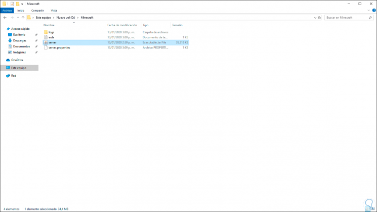 4-Laden Sie die Minecraft-Server-Software herunter und führen Sie sie im System unter Windows 10.png aus