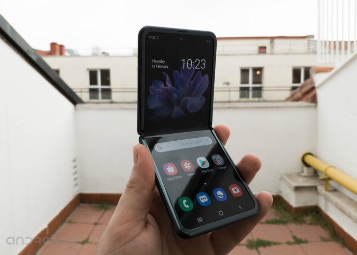 Samsung Galaxy Z Flip-Bildschirm