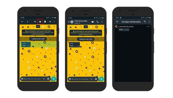 Markieren Sie Nachrichten auf WhatsApp