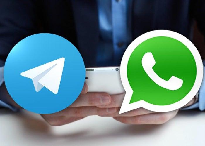 Telegramm und WhatsApp